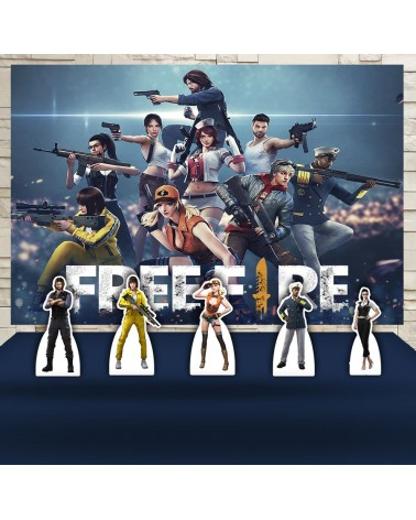 Kit Festa Free Fire (Prata)