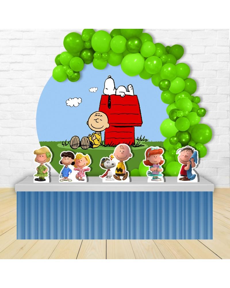 Kit Festa Redondo Snoopy