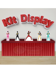 Kit Display Power Rangers...