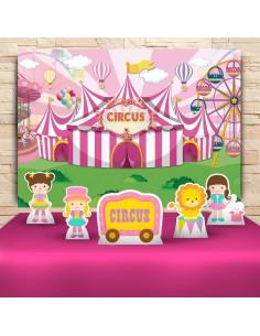 Kit Festa Circo Rosa (Prata)