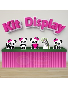 Kit Display Panda Rosa