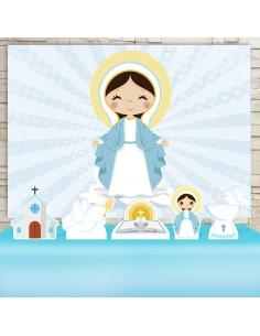 Kit Festa Virgem Maria (Prata)