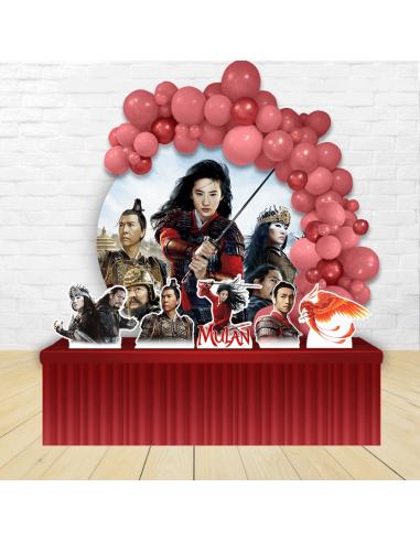 Kit Festa Redondo Mulan - Filme