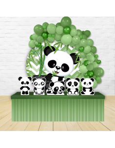 Kit Festa Redondo Panda