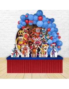 Kit Festa Redondo Circo Vermelho