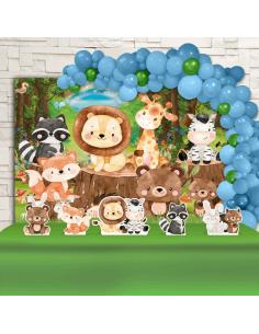 Kit Festa Animais do Bosque...