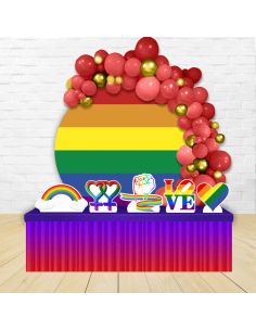 Kit Festa Redondo LGBT
