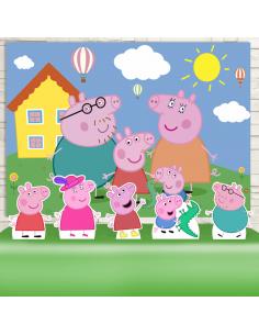 Kit Festa Peppa Pig  (Prata)