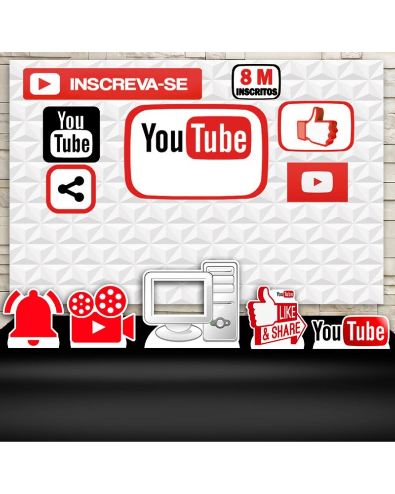 Kit Festa Youtube (Prata)