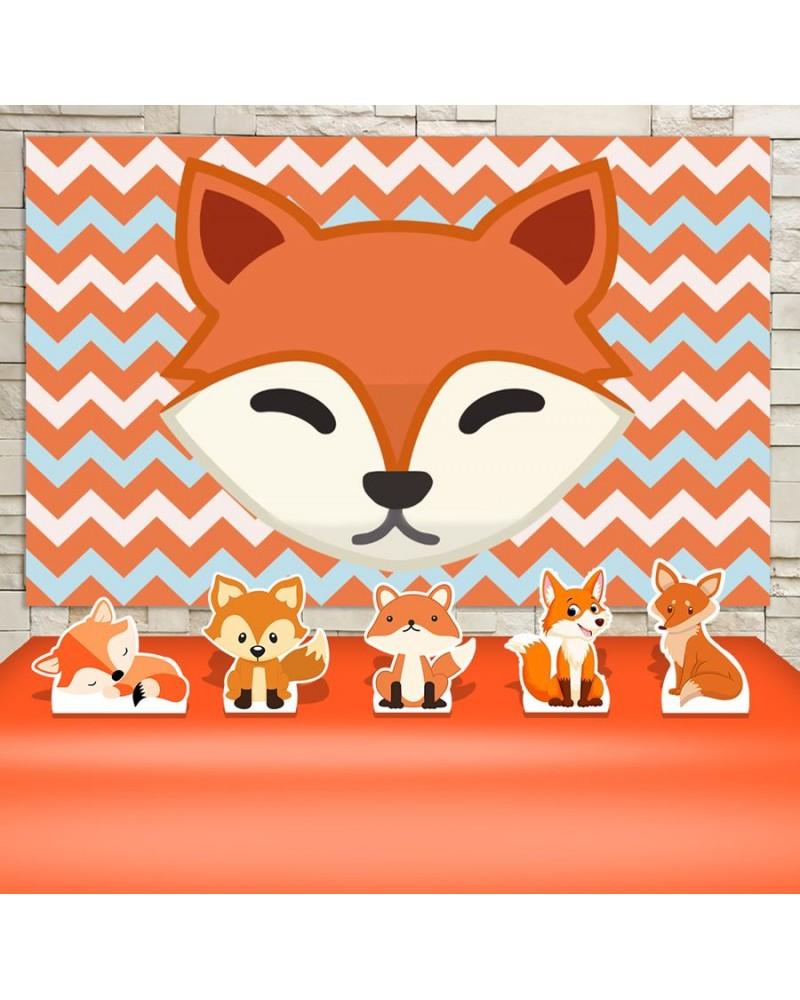 Kit Festa Raposinha Fox (Prata)