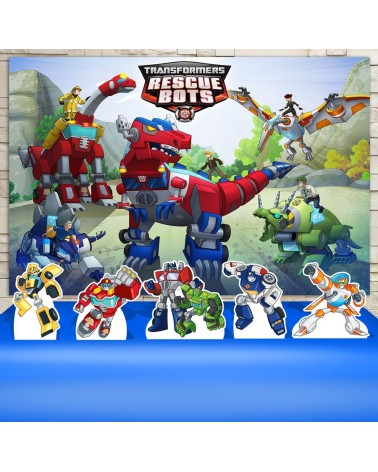 Kit Festa Rescue Bots  (Prata)