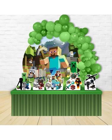 Kit Festa Redondo Minecraft