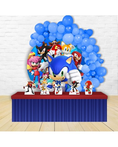 Kit Festa Redondo Sonic