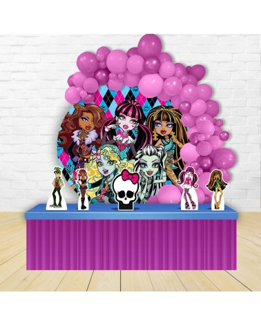 Kit Festa Redondo Monster High