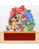 Painel para decoração de festa com o tema Doki