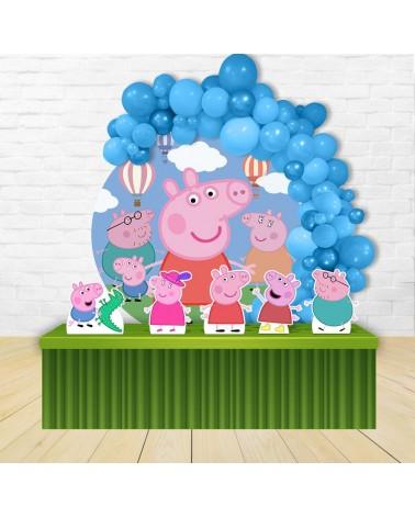 Kit Festa Redondo Peppa Pig
