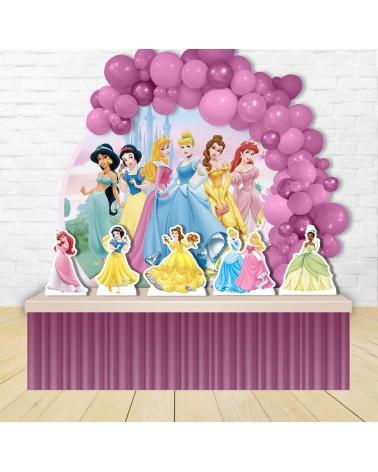 Kit Festa Redondo Princesas