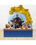 Painel para decoração de festa com o tema Angry Birds