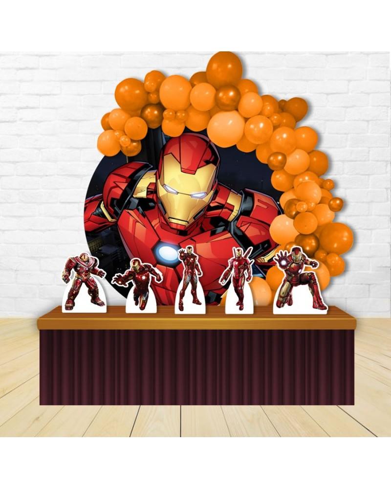 Kit Festa Redondo Homem de Ferro