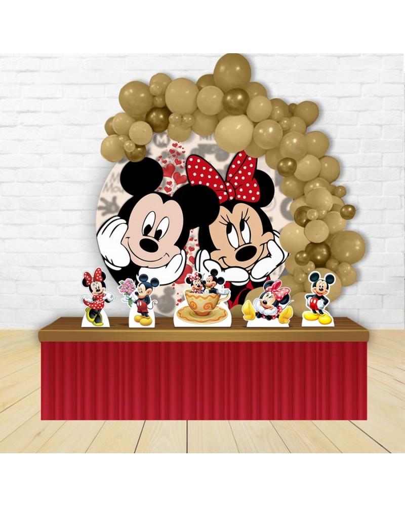 Kit Festa Redondo Mickey e Minnie