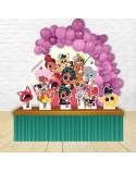 Painel para decoração de festa infantil com o tema Winx