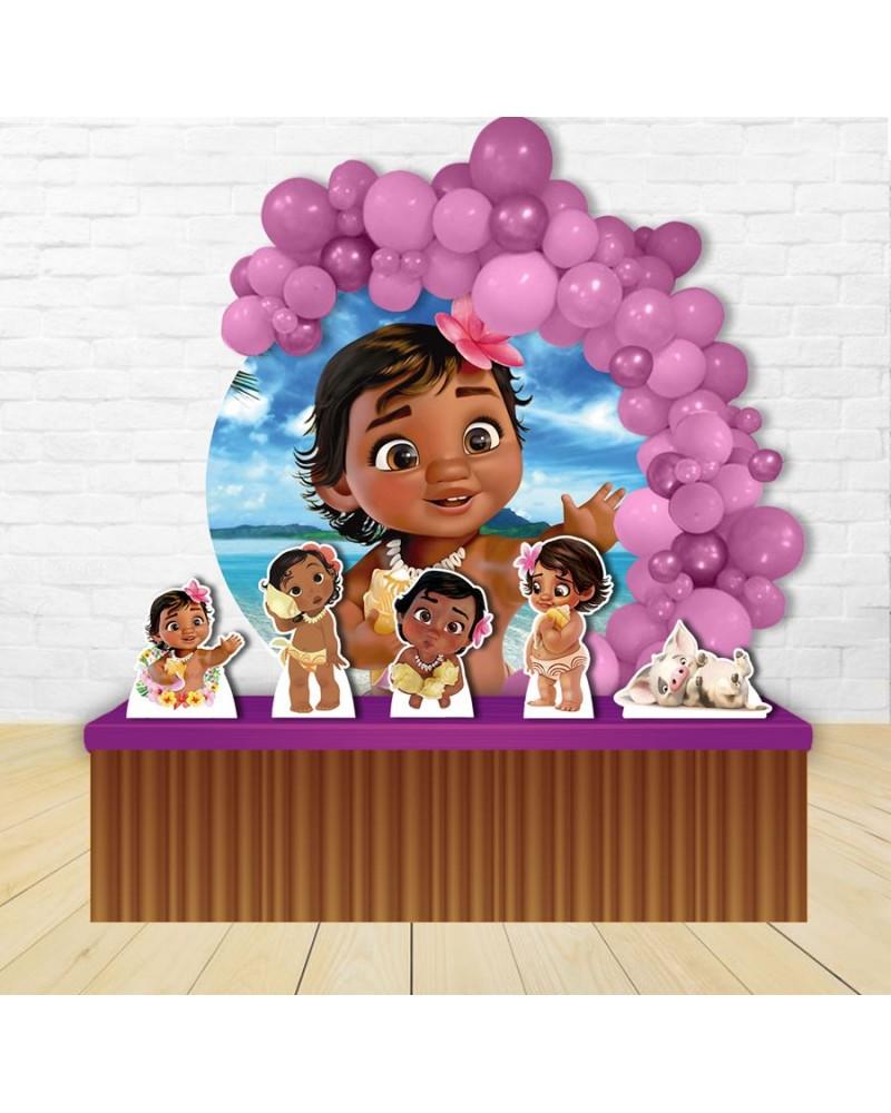 Painel para decoração de festa infantil com o tema Turma da Mônica Baby