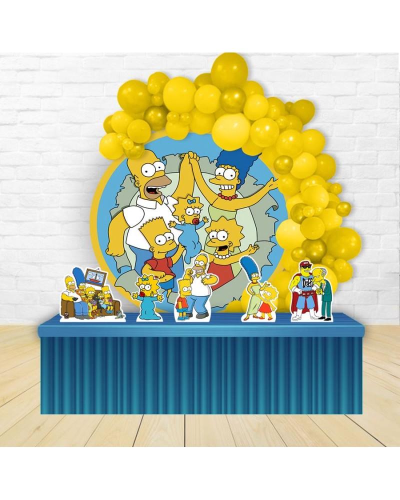Kit Festa Redondo Os Simpsons