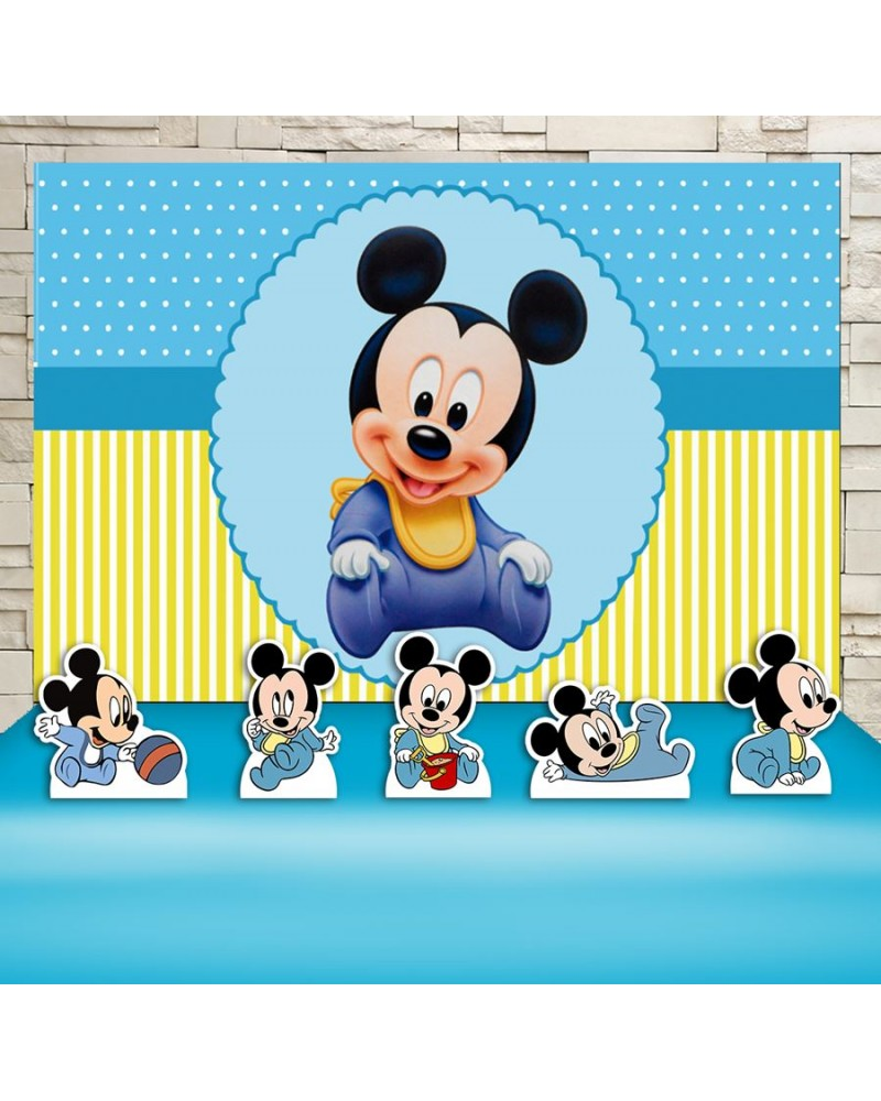 Kit Festa  Mickey Baby (Prata)
