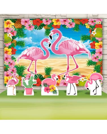 Kit Festa Flamingo (Prata)