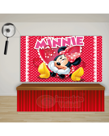 Painel Minnie Vermelha