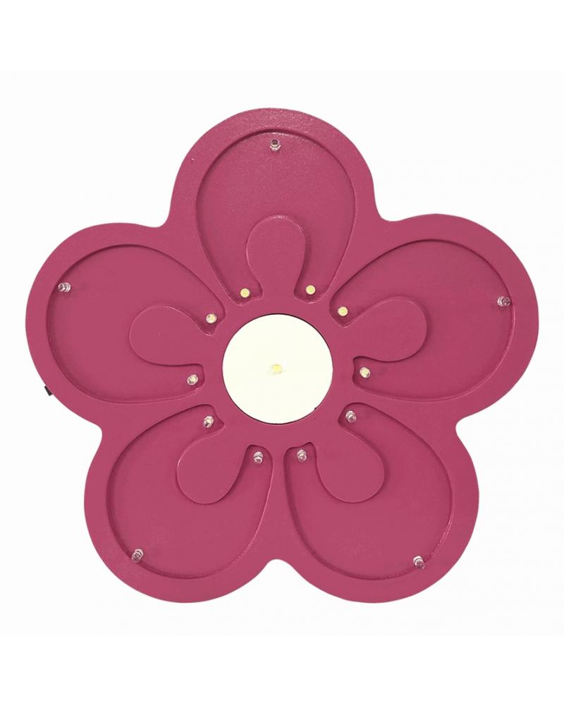 Luminoso Flor Rosa