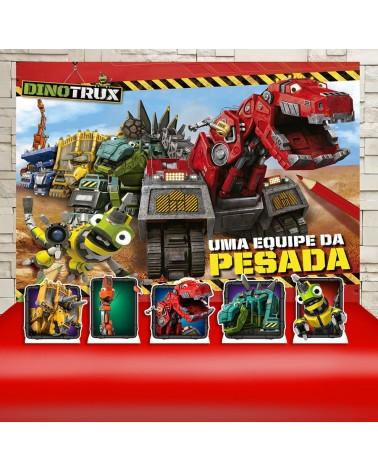 Kit Festa Dinotrux (Prata)