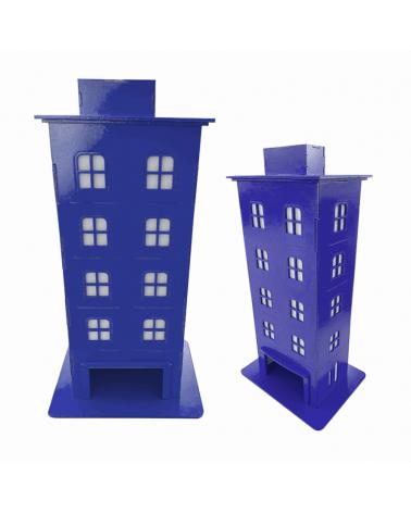 Kit Prédio Decorativo Azul