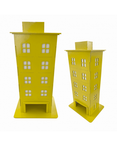 Kit Prédio Decorativo Amarelo