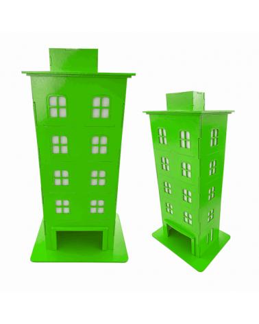 Kit Prédio Decorativo Verde