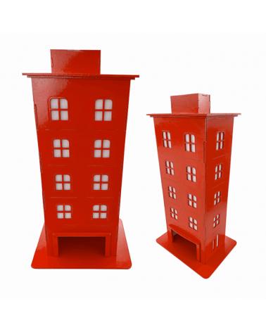 Kit Prédio Decorativo Vermelho