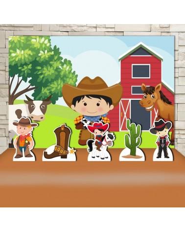 Kit Festa CowBoy (Prata)