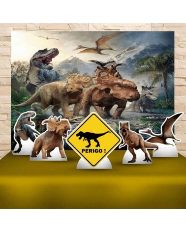 Kit Festa Dinossauros (Prata)