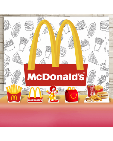 Kit Festa McDonald's (Prata)