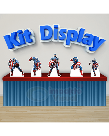 Kit Display Capitão América