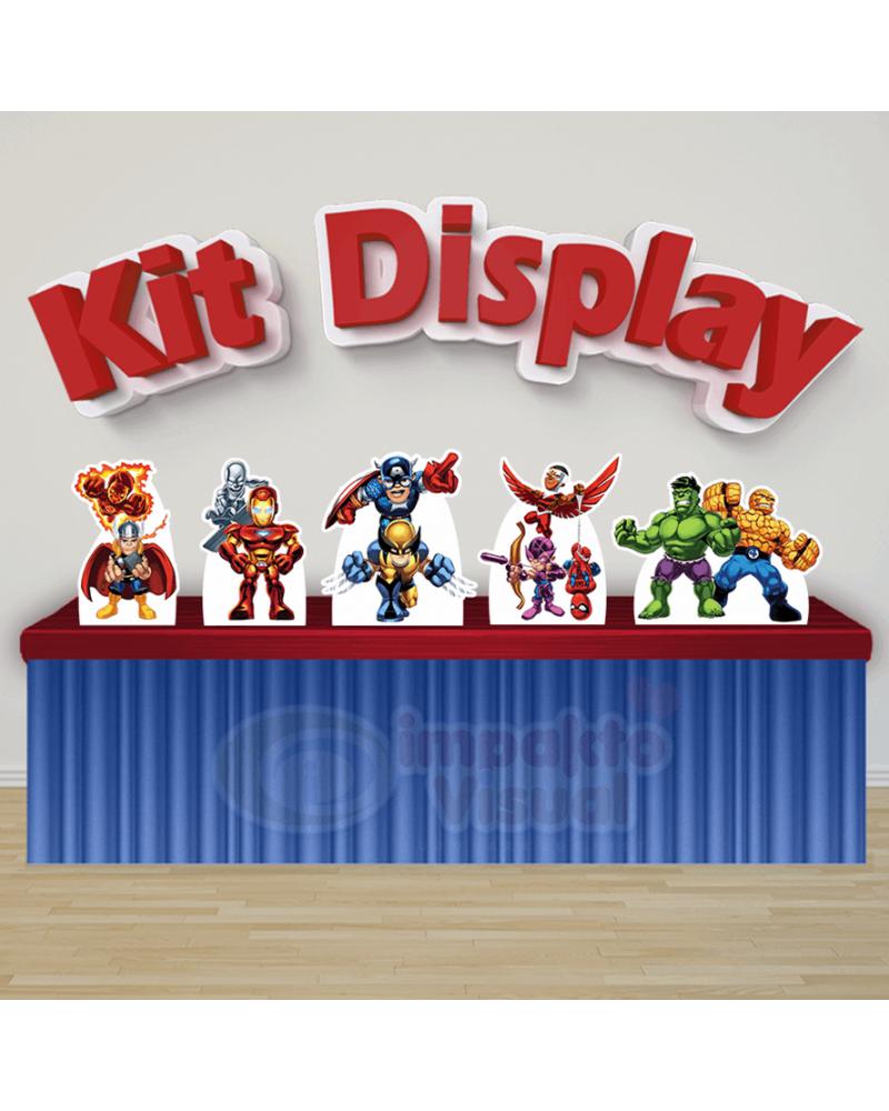 Kit Display Esquadrão de Heróis