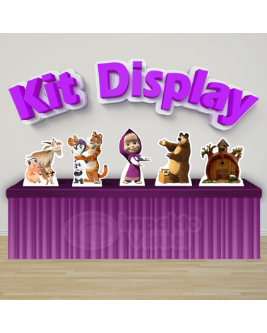 Kit Display Masha e o Urso
