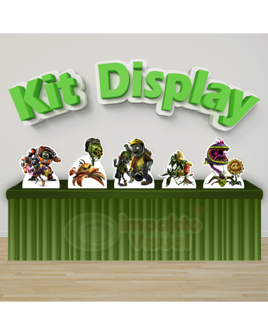 Kit Display Plants Vs Zumbi