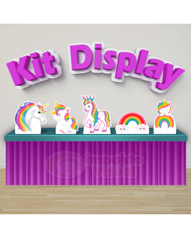 Kit Display Unicórnio