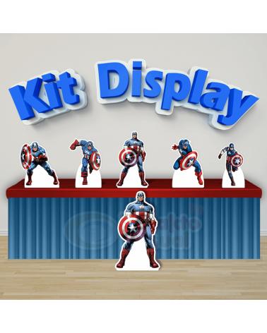 Kit Display Capitão América...
