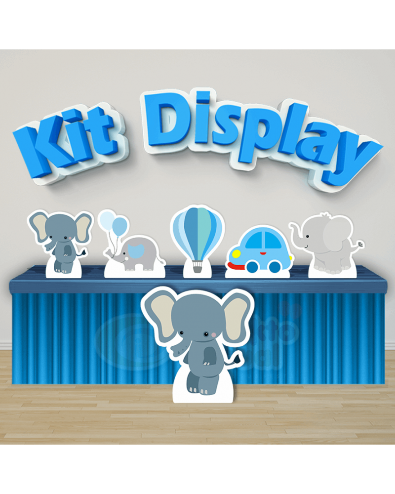 Kit Display Elefantinho Azul (Diamante)