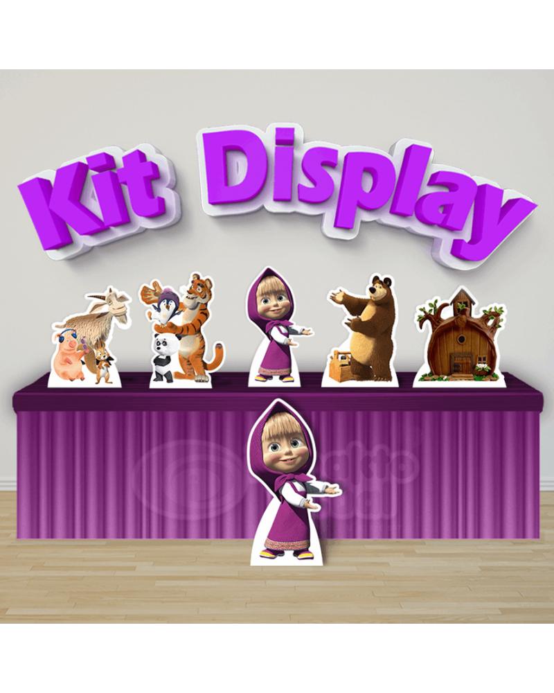 Kit Display Masha e o Urso (Diamante)