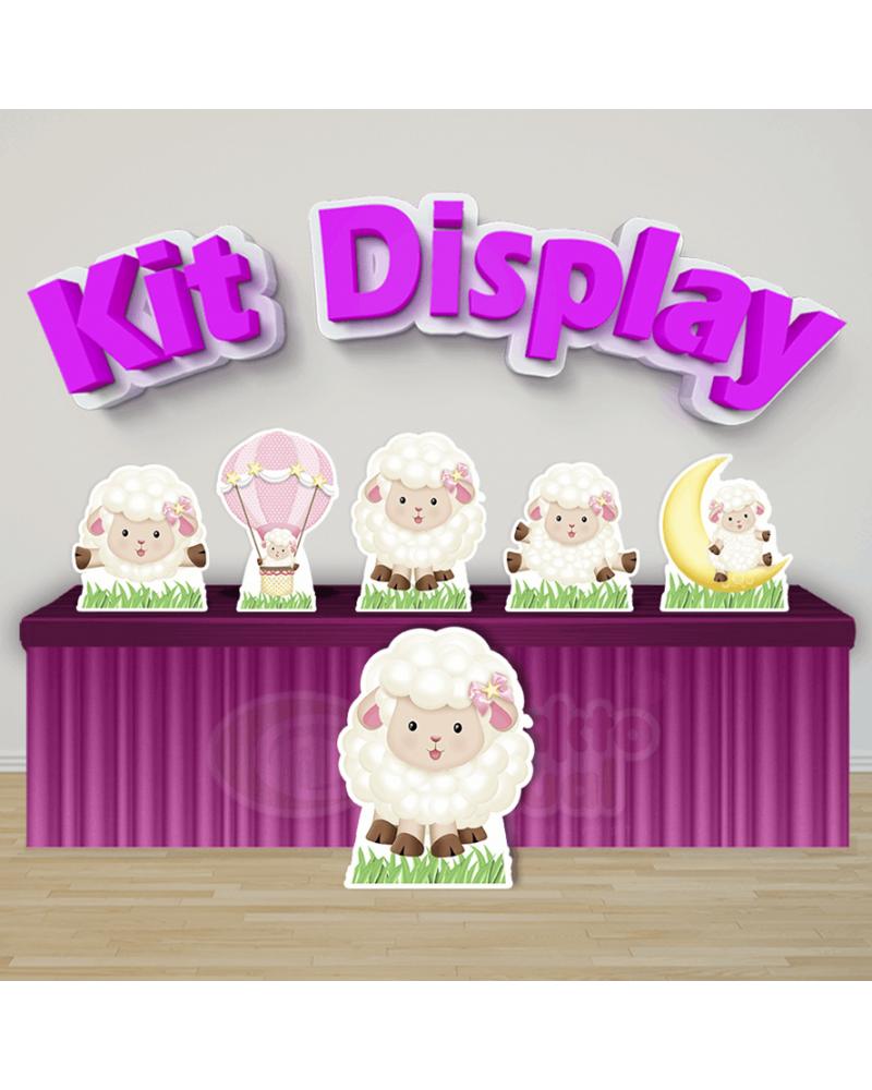 Kit Display Ovelhinha Rosa (Diamante)