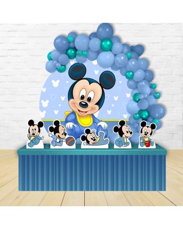 Kit Festa Redondo Mickey Baby