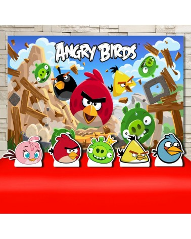 Kit Festa Angry Birds (Prata)